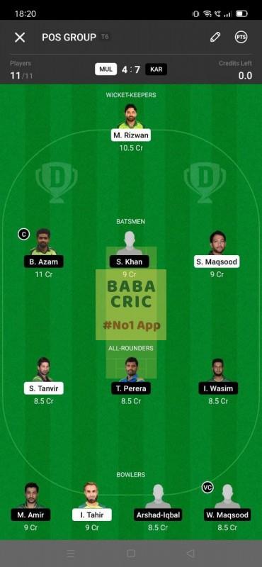 MID vs SUR (T20 Blast) Dream11 Grand League Team 1