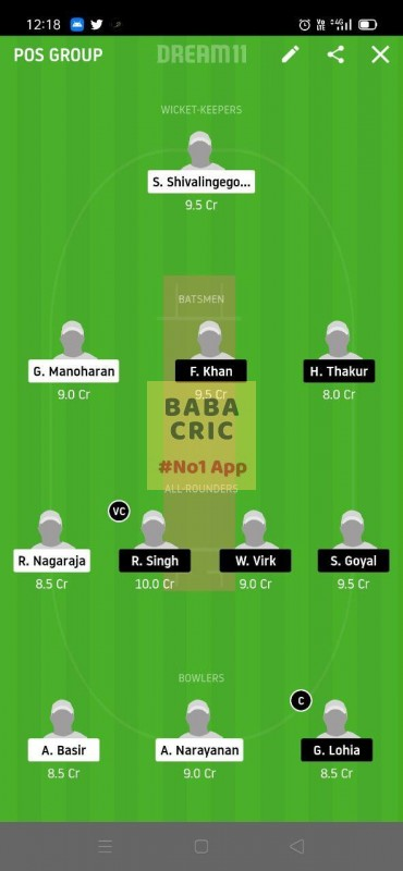 USGC vs BSVB (ECS T10 Dresden) Dream11 Grand League Team 1