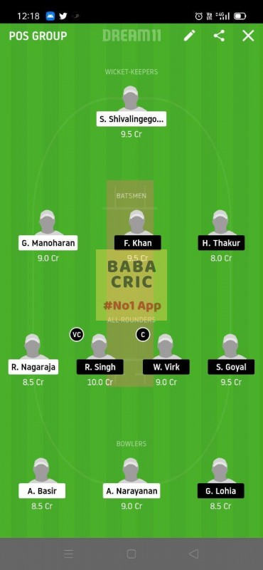 USGC vs BSVB (ECS T10 Dresden) Dream11 Grand League Team 5