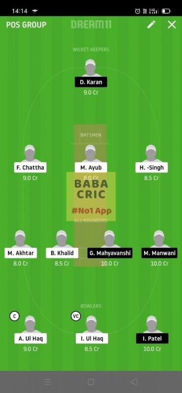 HCCS vs RSCC (ECS T10 Barcelona) Dream11 Grand League Team 1