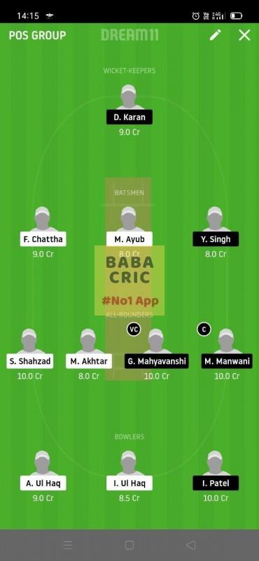 HCCS vs RSCC (ECS T10 Barcelona) Dream11 Grand League Team 2