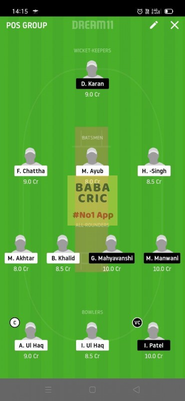 HCCS vs RSCC (ECS T10 Barcelona) Dream11 Grand League Team 5