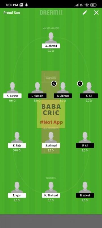 FZL vs PMCC (ECS T10 Barcelona) Dream11 Grand League Team 5