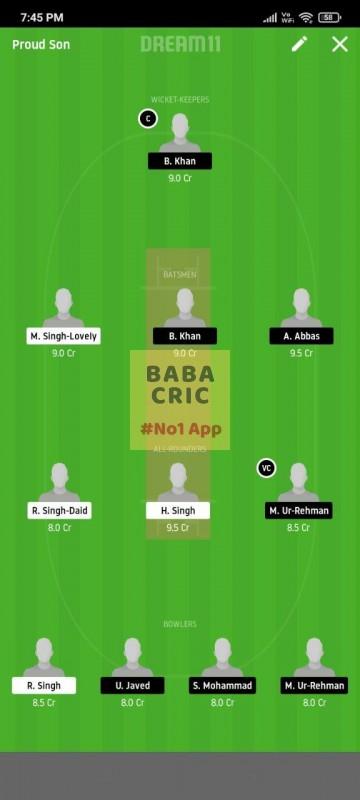 FCC vs BSH (ECS T10 Barcelona) Dream11 Grand League Team 3