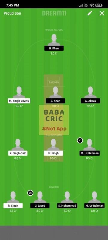 FCC vs BSH (ECS T10 Barcelona) Dream11 Grand League Team 4