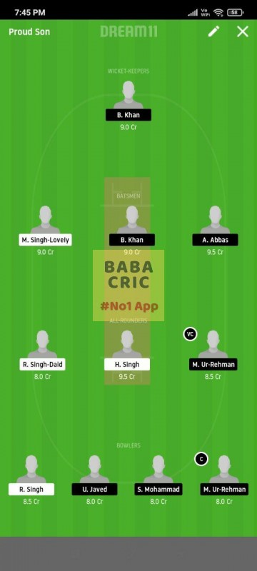 FCC vs BSH (ECS T10 Barcelona) Dream11 Grand League Team 5