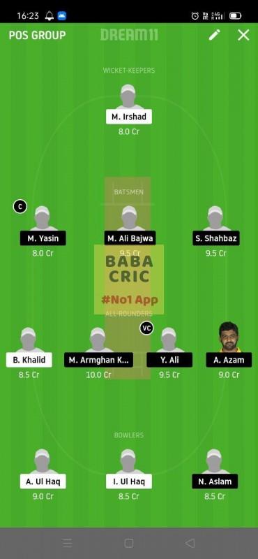 HCCS vs CTL (ECS T10 Barcelona) Dream11 Grand League Team 2