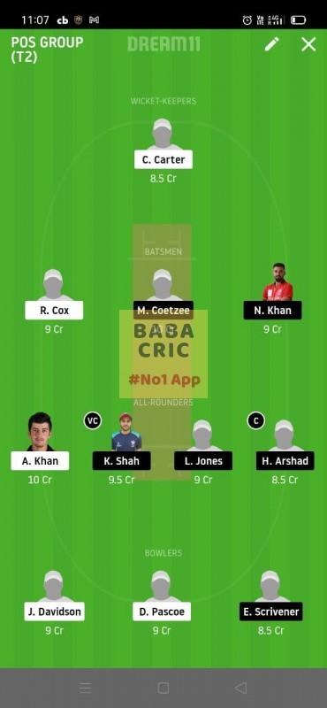 KCC vs HKCC (Honk Kong T20) Dream11 Grand League Team 5
