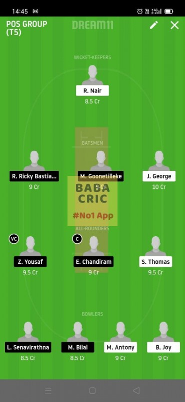 MSW vs SOC (ECS T10 MALTA) Dream11 Grand League Team 3