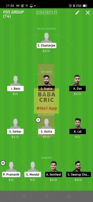 KAC vs CAL (Roxx bangal T20 Chellenge) Dream11 Grand League Team 2