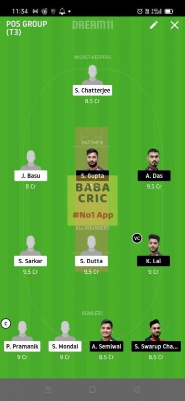 KAC vs CAL (Roxx bangal T20 Chellenge) Dream11 Grand League Team 5