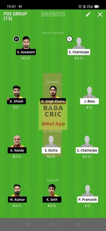 KAC vs EBC (Roxx Bangal T20 challenge) Dream11 Grand League Team 4