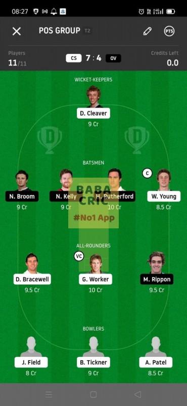 CS vs OV (Super Smash T20) Dream11 Grand League Team 5