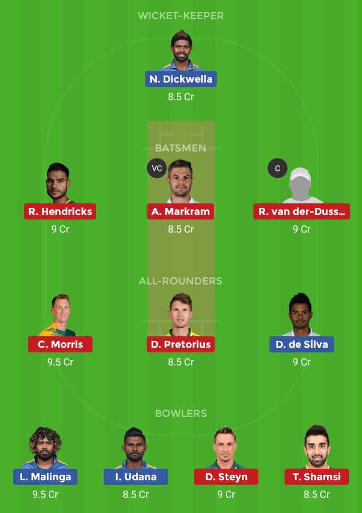 SL vs SA (South Africa vs Sri Lanka T20I 3rd Match)