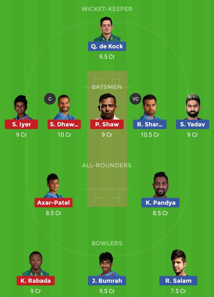 MI vs DC (IPL 2019 3rd Match)