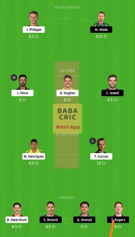 SIX vs HUR (Big Bash League)