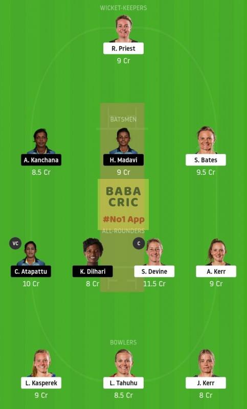 NZW vs SLW (Womens T20 World Cup)