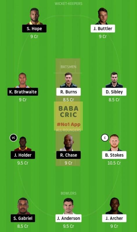 ENG vs WI (1st Test Match)
