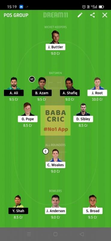 ENG vs PAK (2nd Test)