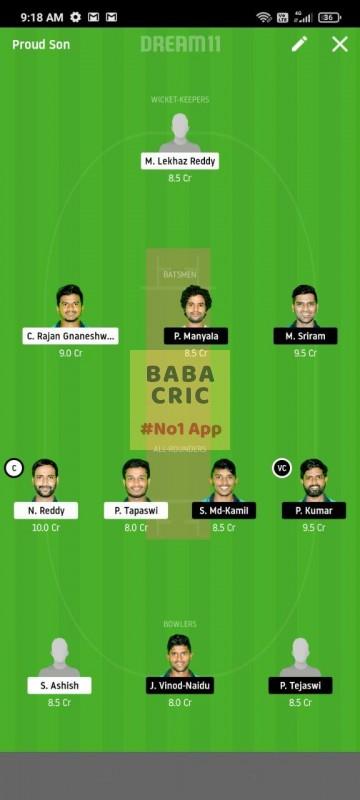 KINXI vs WARXI (Karbonn Andhra T20)