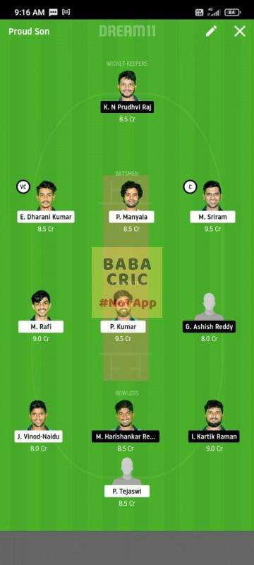 WARXI vs LEGXI (Karbonn Andhra T20)