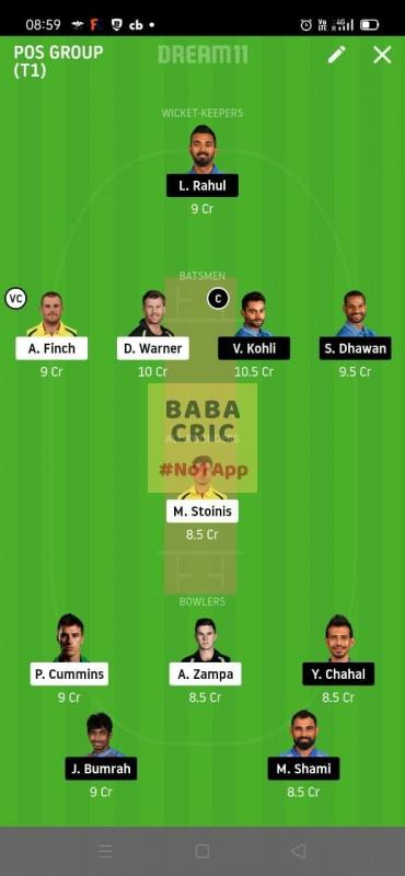 INDIA vs AUSTRALIA 1st ODI (Australia vs India ODI 2020)