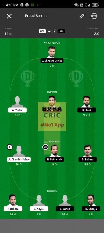 OPA vs ODL (MGM Odisha T20)