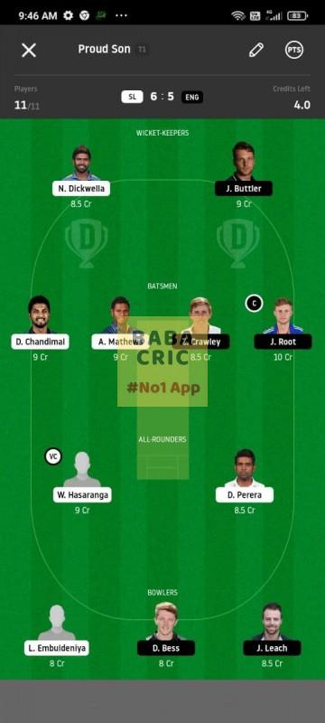 SL vs ENG 1st Test