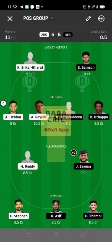 AND vs KER (Syed MUshatq Ali Trophy T20)