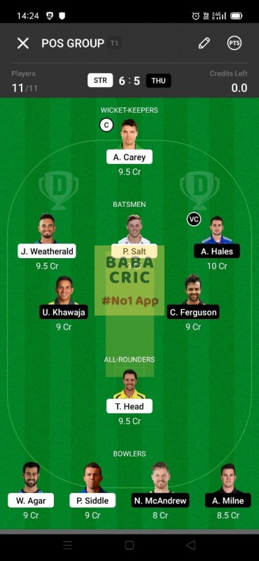 STR vs THU (KFC Big Bash League T20)