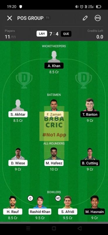 LAH vs QUE (Pakistan Super League T20-2021)
