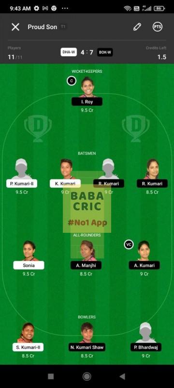 DHAW vs BOKW (Jharkhand Women T20-2021)