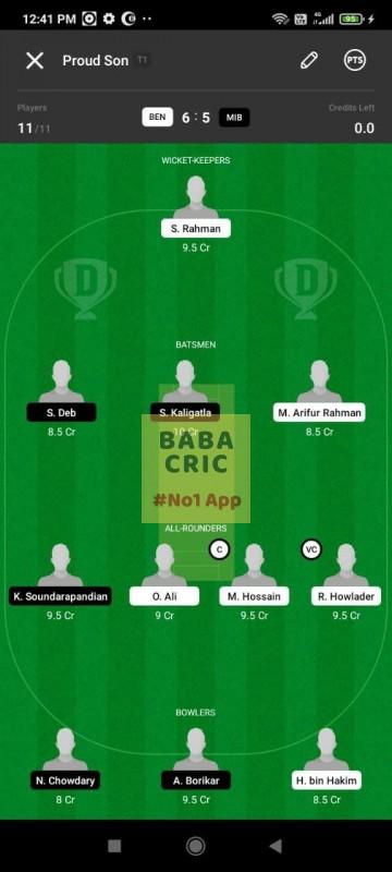 BEN vs MIB (ECS T10- Barcelona)