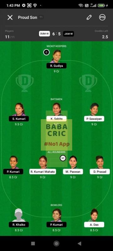 DUMW vs JAMW (Jharkhand Women T20- 2021)