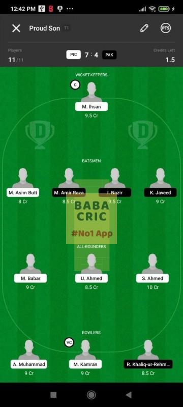 PIC vs PAK (ECS T10- Barcelona)
