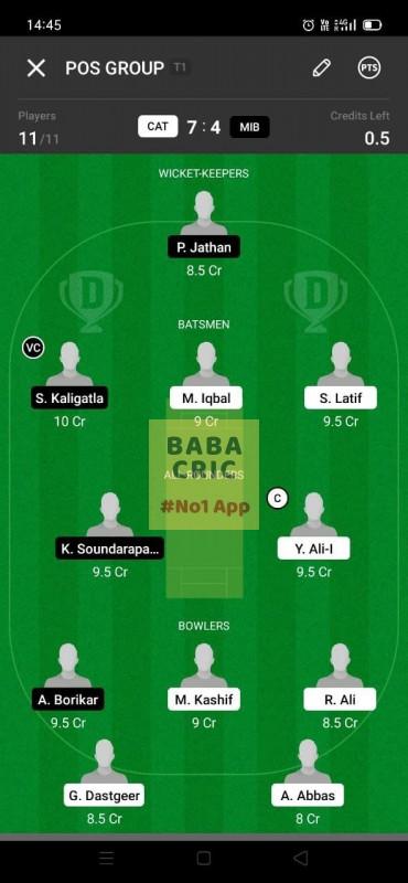 CAT vs MIB (ECS T10- Barcelona)
