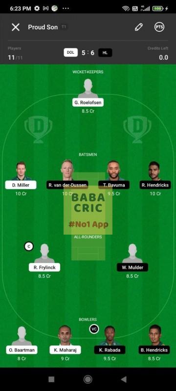 DOL vs HL (South African T20 Challenge)