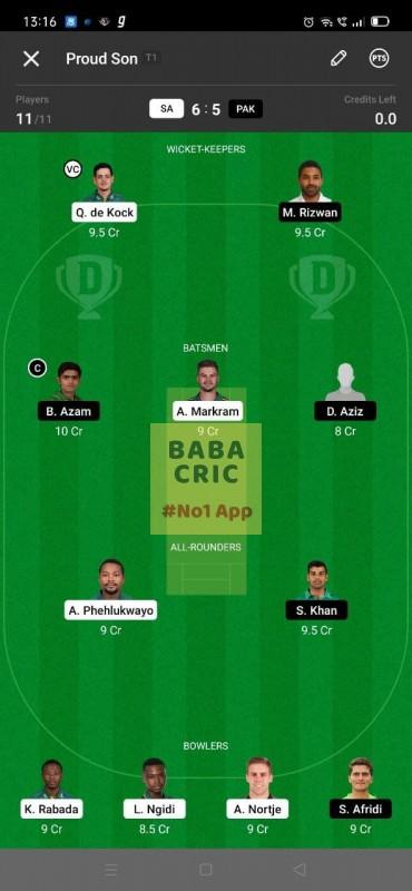 SA vs PAK 1st ODI