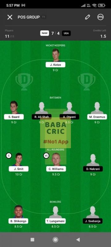 NAM vs UGA - 1st T20I