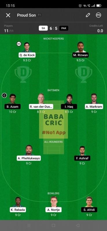 SA vs PAK - 2nd ODI