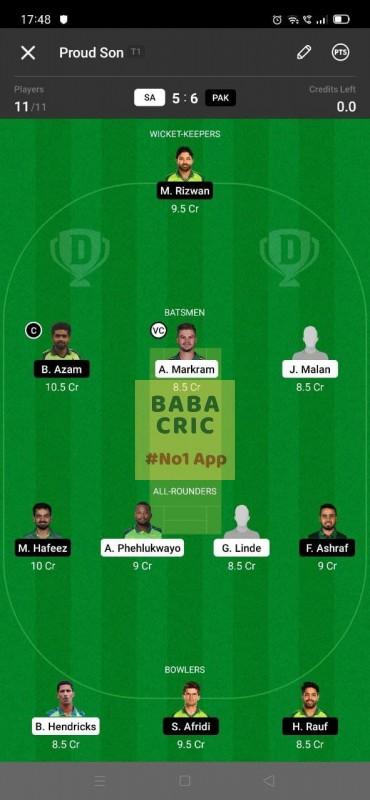SA vs PAK - 1st T20I