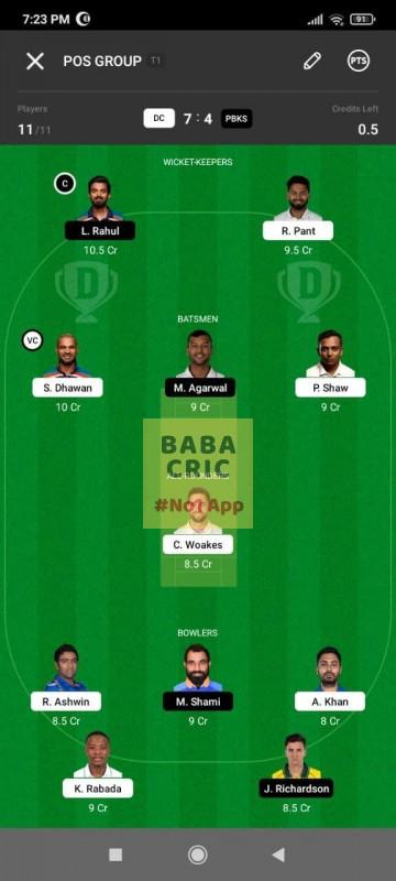 DC vs PBKS (IPL2021)