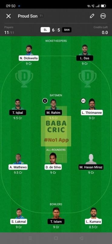 SL vs BAN - 1st Test