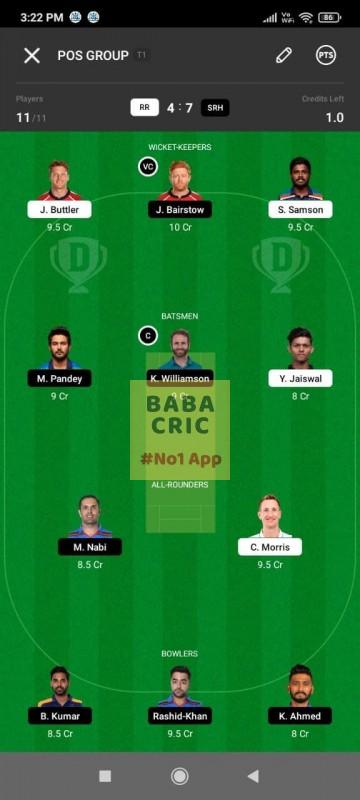 RR vs SRH (IPL 2021)