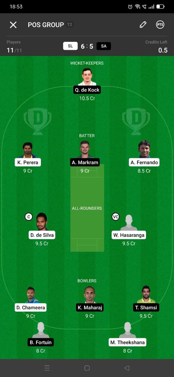 SL vs SA 3rd T20I