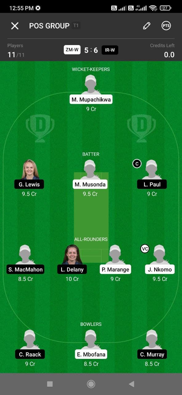 ZMW vs IRW 4th ODI