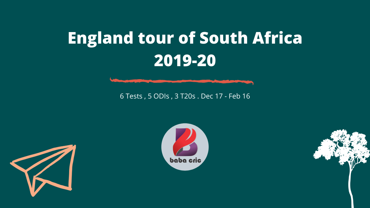 England tour of South Africa, 2019-20