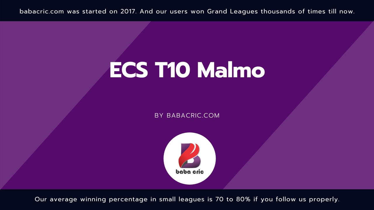 ECC vs MAL (ECS T10 Malmo)