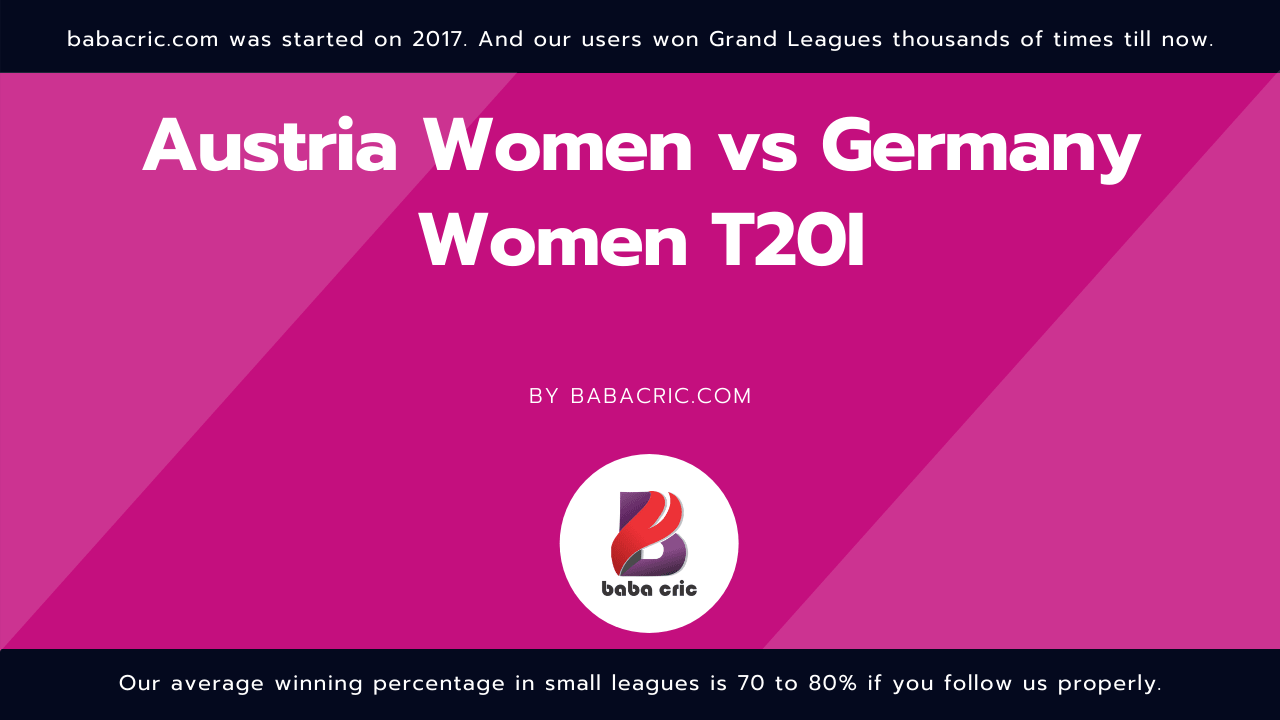 AUTW vs GRW (Austria Women vs Germany Women T20I)