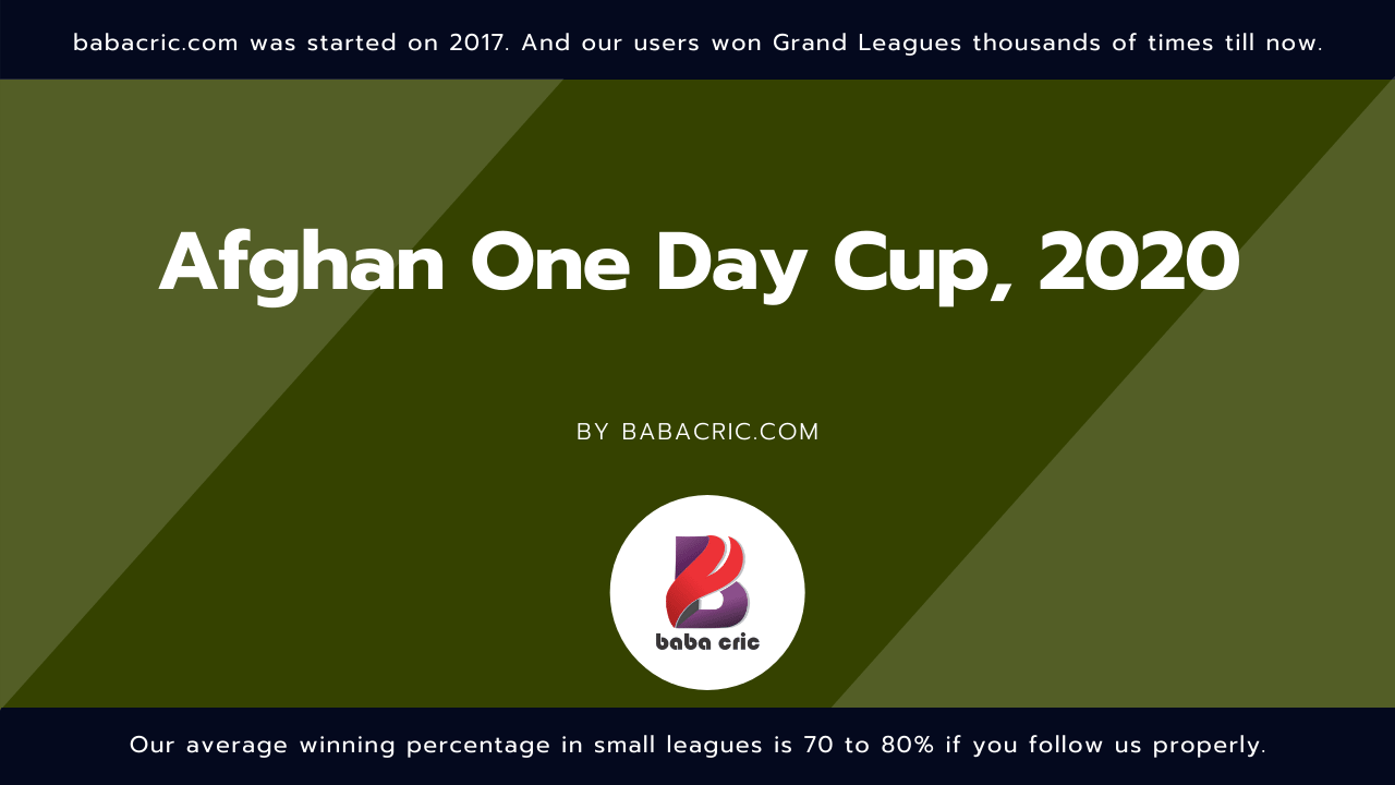 KAP vs BKH (Afghan One Day Cup 2020)